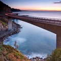 Picture of Sea Cliff bridge in Wollongong, NSW at sunset